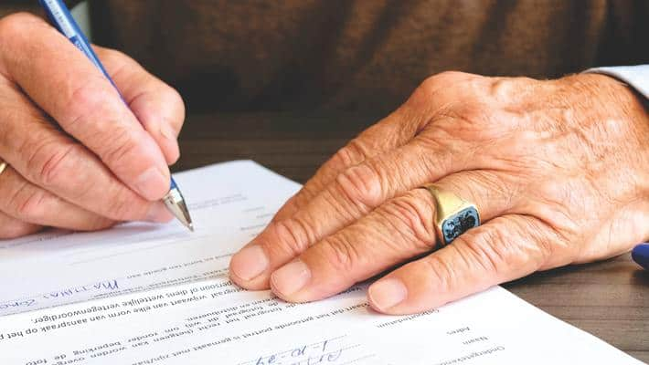 signing documents loan application