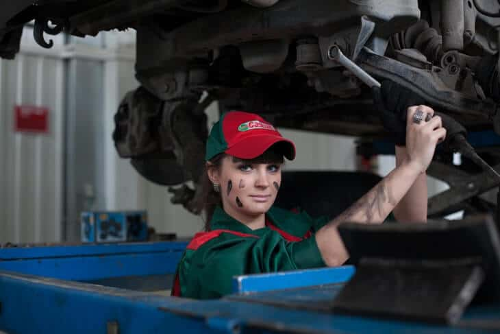 female mechanic