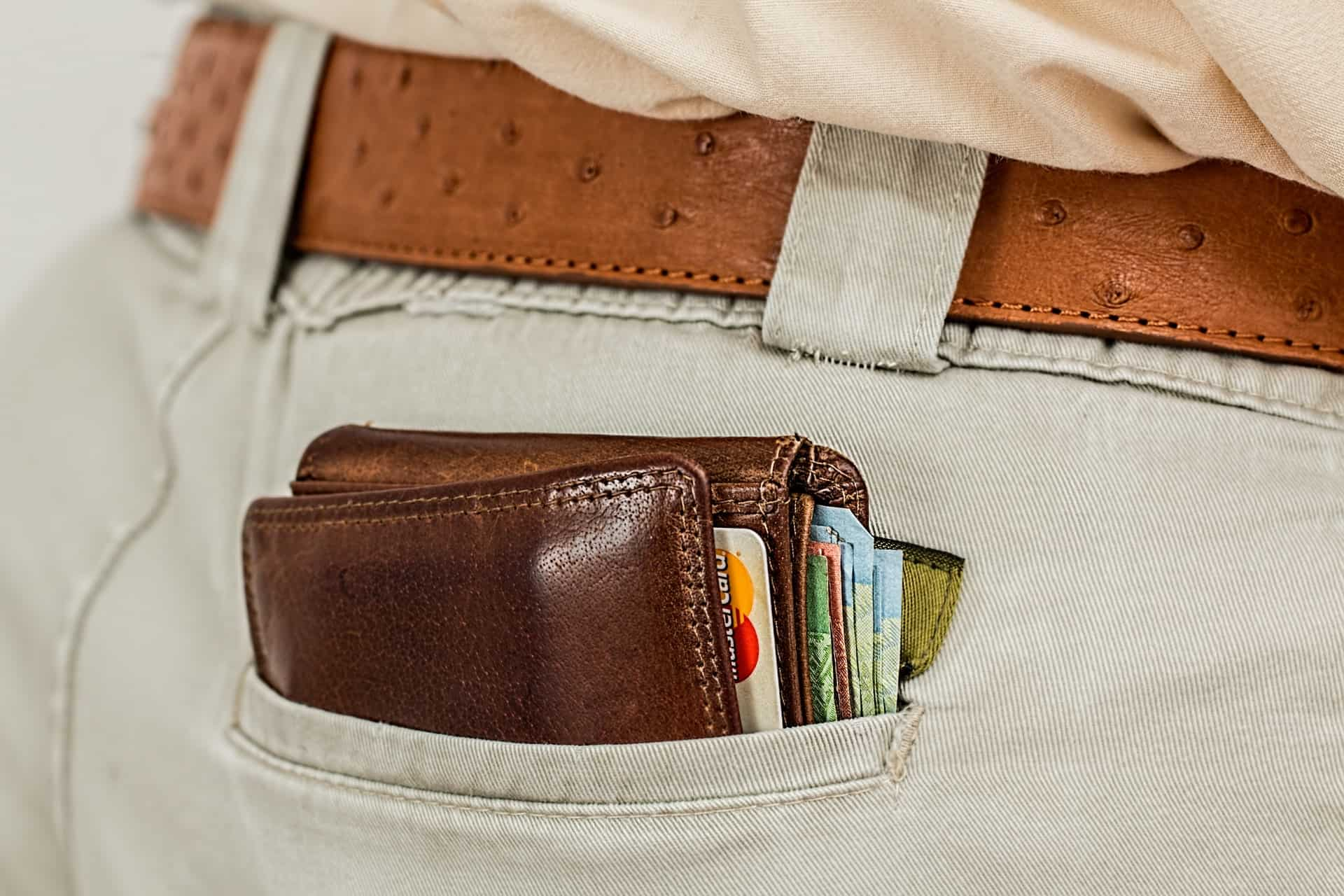 wallet in a pocket