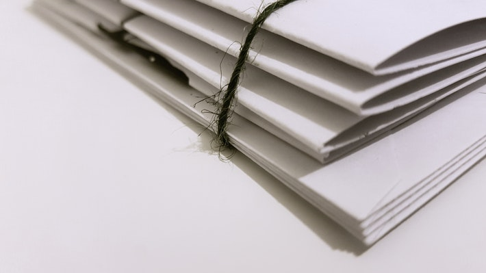 bound papers