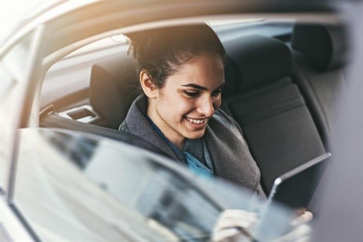 woman getting flexible loan